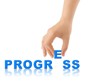 Hand and word Progress