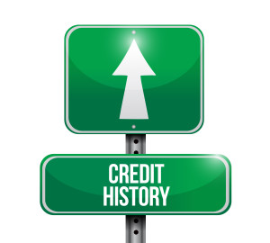 credit history road sign illustrations